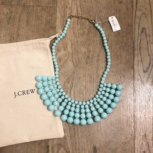 Jcrew bubble necklace NEW turquoise